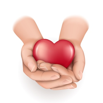 Herz in hohlen händen