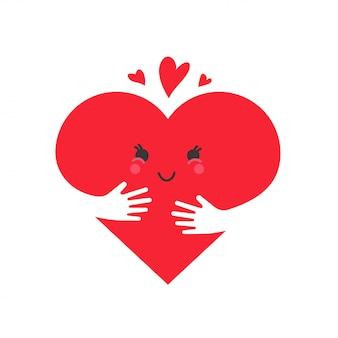 Herz in liebe konzept