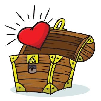 Herz kommt aus der schatzkiste