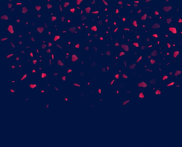 Herz konfetti hintergrund herunterfallen