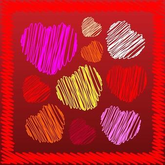 Herz kritzeleien vektoren