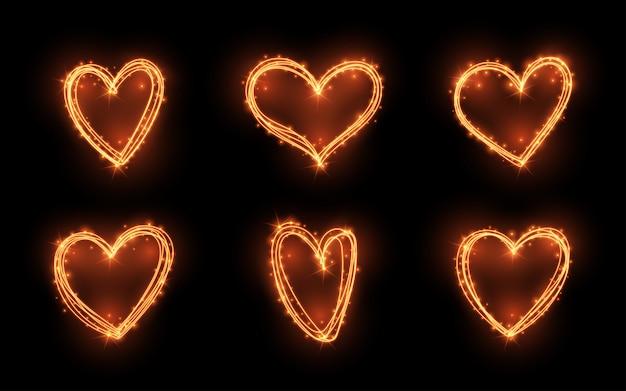 Herz licht glow-effekt eingestellt