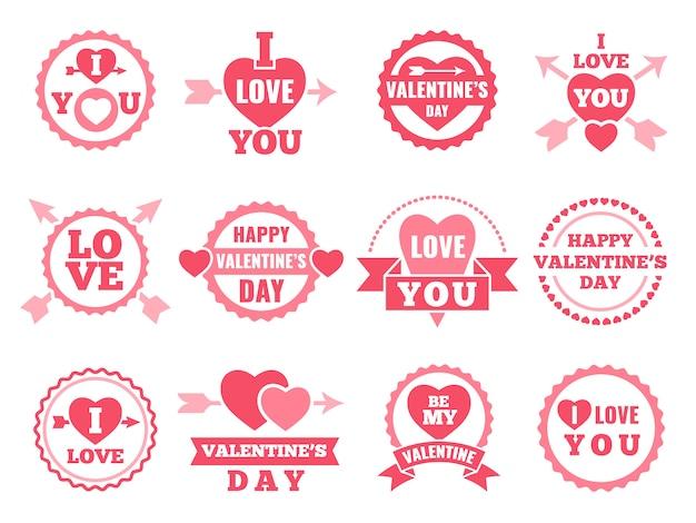Herz, lippen und andere liebessymbole.