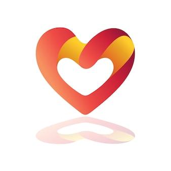 Herz logo mit variationen im buchstaben g