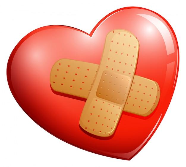 Herz mit einem pflaster