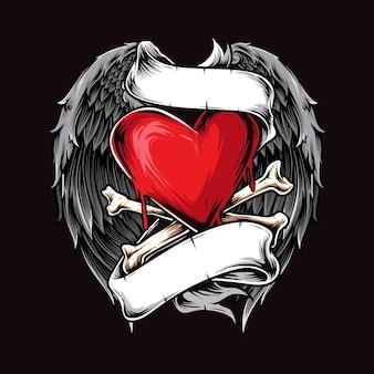 Herz mit flügeln illustration