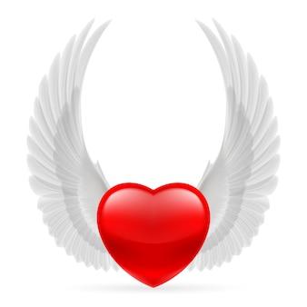 Herz mit flügeln nach oben