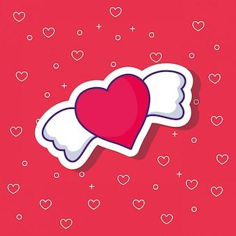 Herz mit flügeln