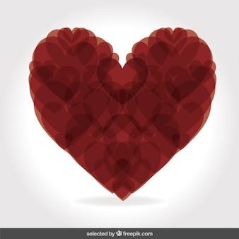 Herz mit herzen gemacht