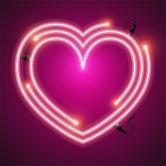 Herz neon banner