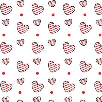Herz streifenmuster