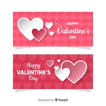 Herz-Valentinsgruß-Fahnensammlung