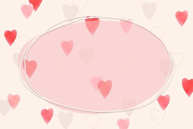 Herz verzierter rahmen zum valentinstag
