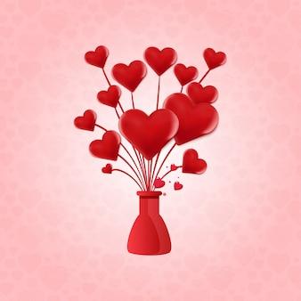 Herzballon des valentinsgrußes