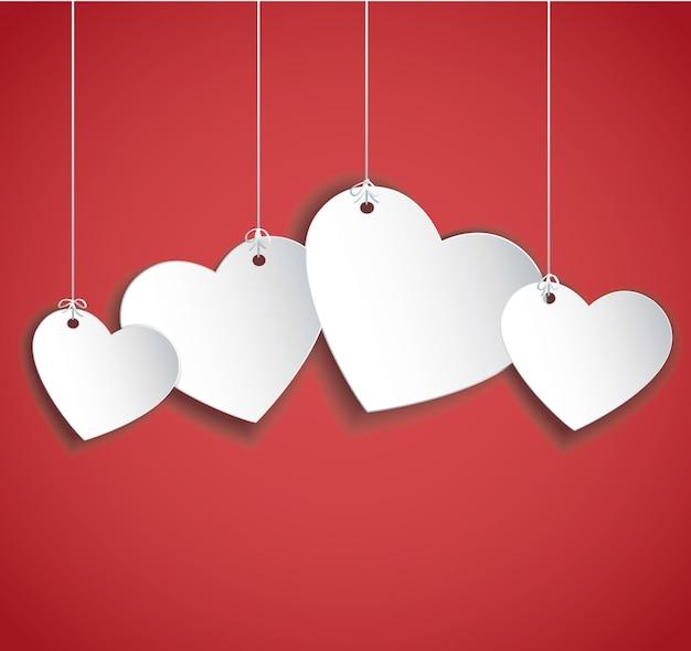Herzen hängen