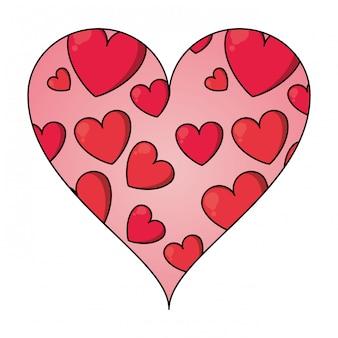 Herzen in herzrahmen