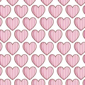 Herzen lieben mit streifenmuster