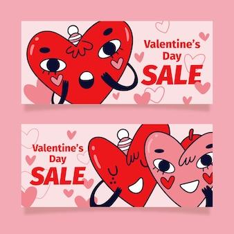 Herzen mit gesichtern valentinstag verkauf