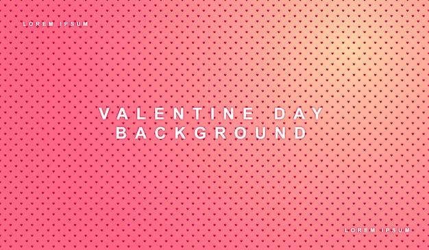 Herzen zum valentinstag muster hintergrund