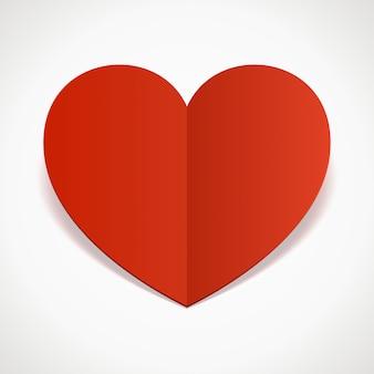 Herzform papierschnitt