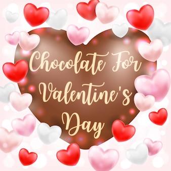 Herzformschokolade zum valentinstag