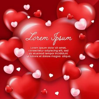 Herzhintergrund für romantischen moment