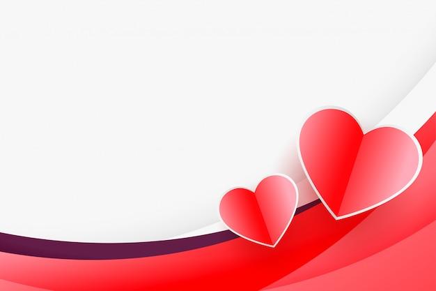 Herzhintergrund mit copyspace für valentinstaggrußkarte