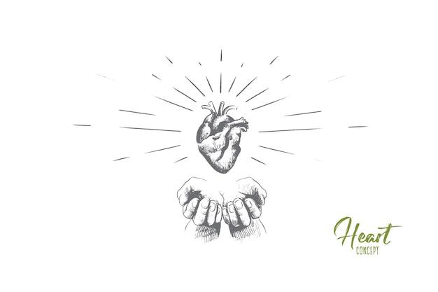 Herzkonzeptillustration