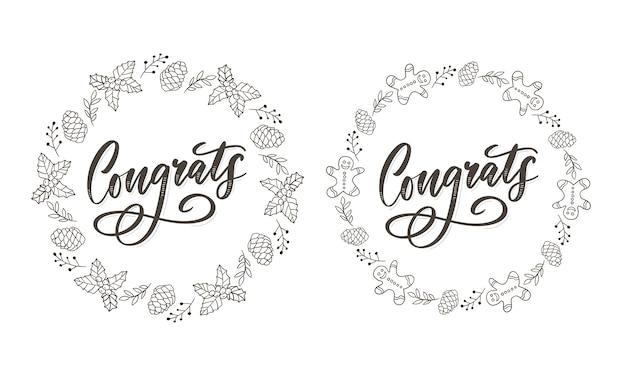 Herzlichen glückwunsch glückwunsch karte schriftzug kalligraphie text pinsel