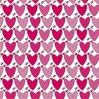 Herzmusterhintergrund. rosa herz nahtlose muster. netter druck scherzt stofftextildesign.