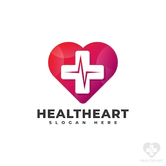 Herzpflege - health heart logo