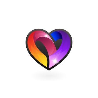 Herzpflege-logo-vektor, social-design-vorlage