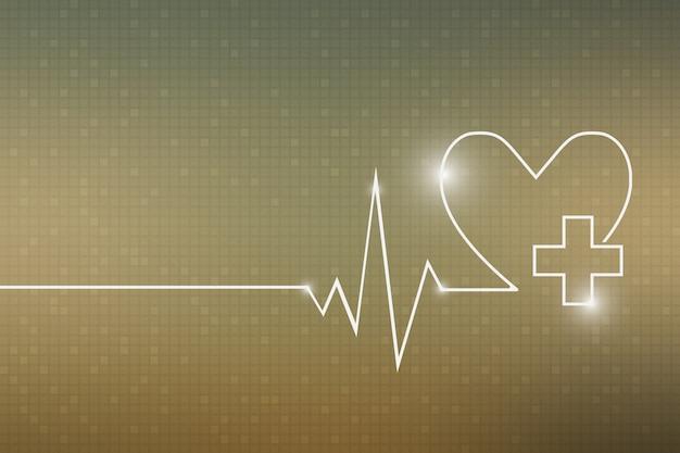 Herzschlaglinie herz cardio