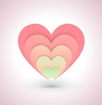 Herzvektorillustration für liebeskonzepthochzeit