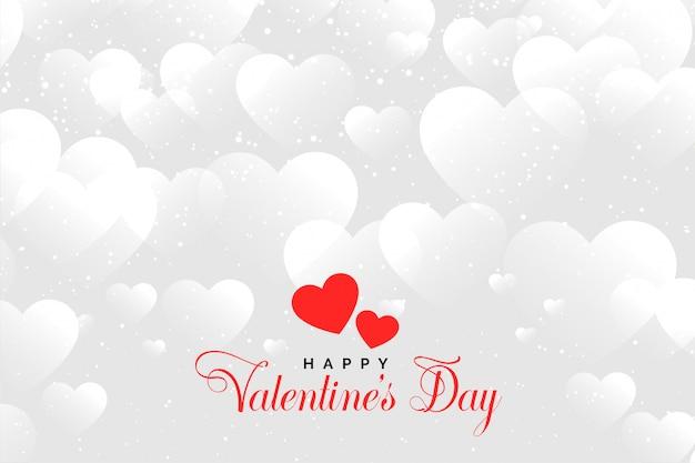 Herzwolkenhintergrund für valentinstag
