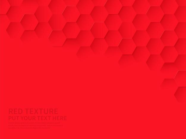 Hex-textur mit rotem sechseck-muster, abstrakter chemie und biotechnologischem hintergrund
