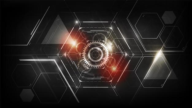 Hexagon abstrakte futuristische elektronische schaltungstechnologie hintergrundkonzept vektor-illustration