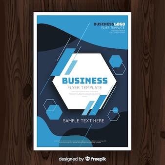 Hexagon-business-flyer-vorlage