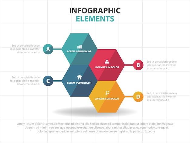 Hexagon business infographik vorlage