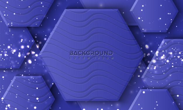 Hexagon lila hintergrund mit 3d-stil