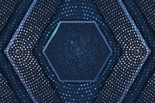 Hexagon-luxushintergrund mit halbtonmuster