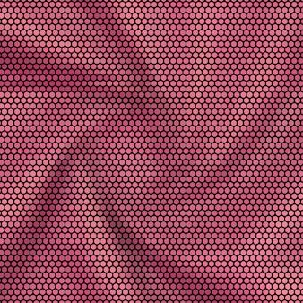Hexagon mosaik hintergrund rötlich rosa stoff