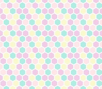 Hexagon nahtlose Muster in Pastellfarben.