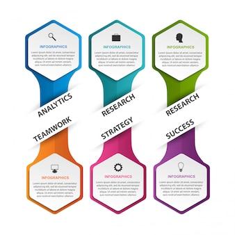 Hexagon optionen infografiken vorlage. Premium Vektoren