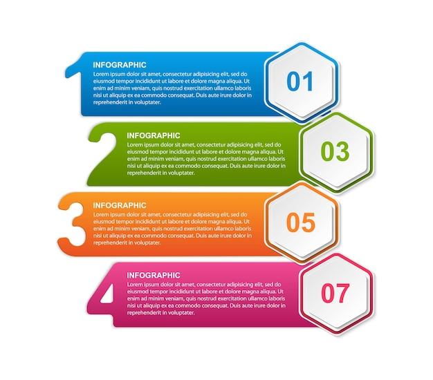 Hexagon optionen infografiken vorlage