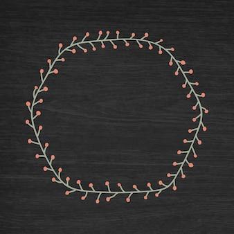 Hexagon weihnachtsrahmenhintergrund