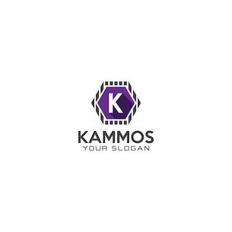 Hexagonal letter k logo