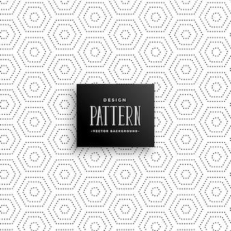 Hexagonale subtile punkte hintergrundmuster