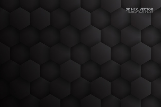 Hexagone dark grey abstract technology background