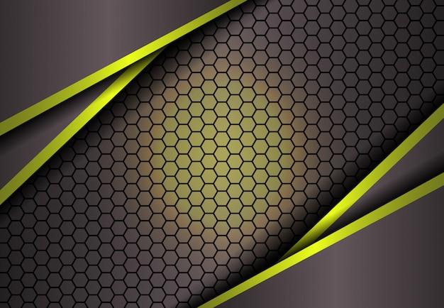Hexagonhintergrund im goldlicht